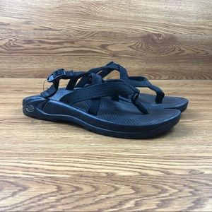 Chaco Hipthing Black Multi-Strap Backless Sandals